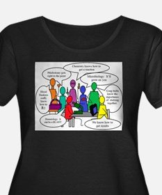 lab shirt trans.jpg Plus Size T-Shirt
