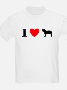 I Heart French Bulldog T-Shirt (Kids Light)