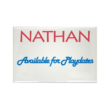 Nathan - Available for Playda Rectangle Magnet (10