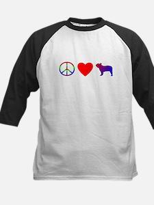 Peace, Love, French Bulldog Tee