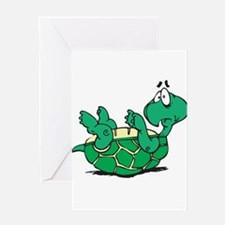Scared Little Turtle Greeting Card