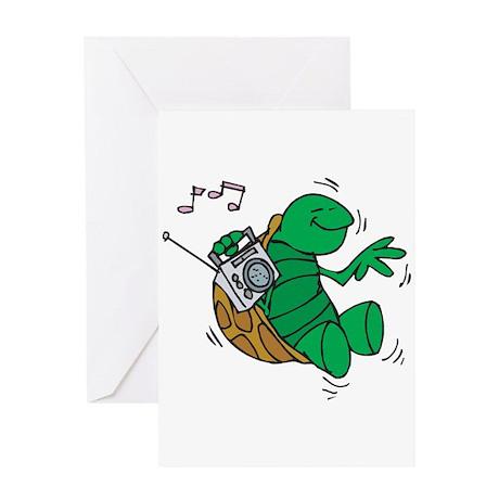 Rockin' Music Turtle Greeting Card