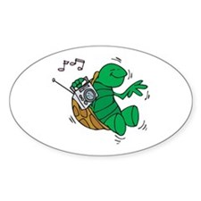 Rockin' Music Turtle Oval Decal