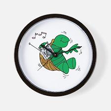 Rockin' Music Turtle Wall Clock