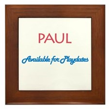 Paul - Available for Playdate Framed Tile