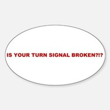 Turn Signal Oval Decal