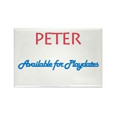 Peter - Available for Playdat Rectangle Magnet (10
