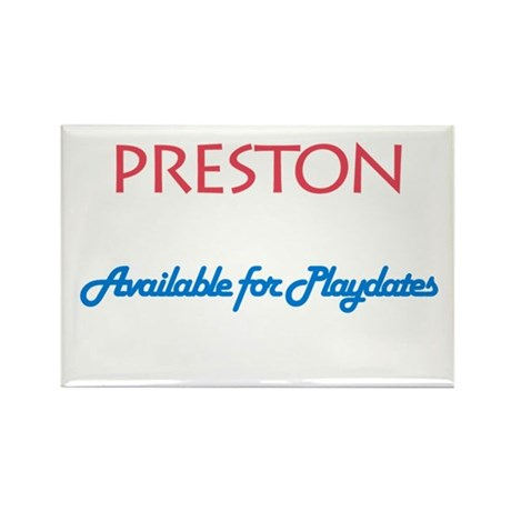 Preston - Available for Playd Rectangle Magnet (10