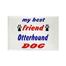 My Best Friend Otterhound Dog Rectangle Magnet