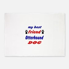 My Best Friend Otterhound Dog 5'x7'Area Rug