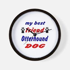 My Best Friend Otterhound Dog Wall Clock