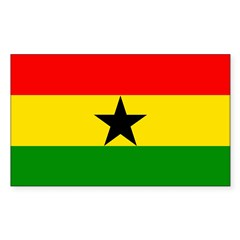 Ghana Rectangle Decal