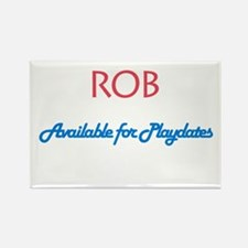 Rob - Available for Playdates Rectangle Magnet (10