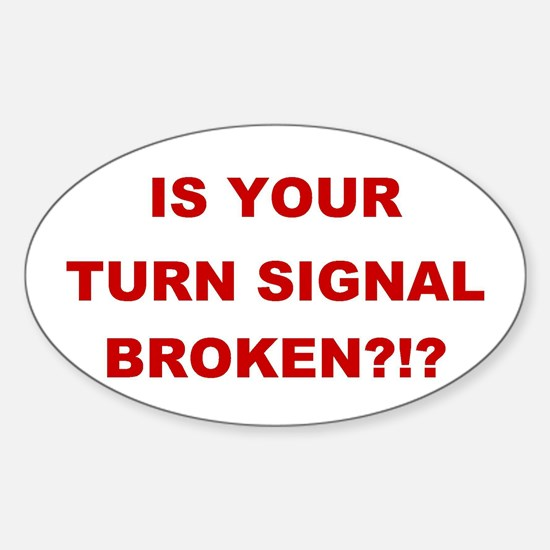 Turn Signal Stacked Oval Decal
