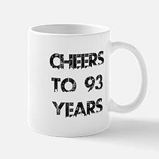 Cheers To 93 Years Designs Mug