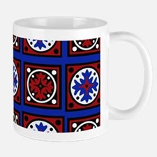 Americana Quilted Tile Print Mugs