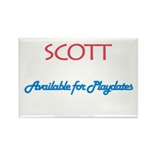 Scott - Available for Playdat Rectangle Magnet (10