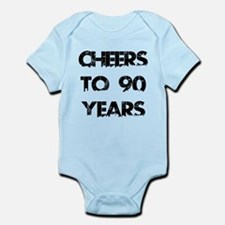 Cheers To 90 Years Designs Infant Bodysuit