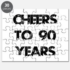 Cheers To 90 Years Designs Puzzle
