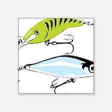 """Unique Fishing tackle Square Sticker 3"""" x 3"""""""