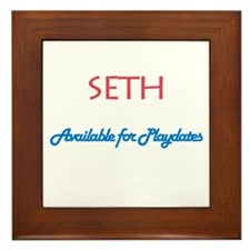 Seth - Available for Playdate Framed Tile