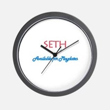 Seth - Available for Playdate Wall Clock