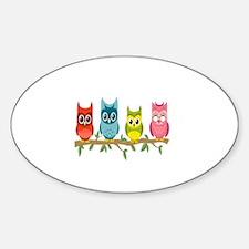 Cute Owl box Decal