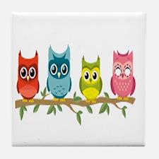 Unique The owl box Tile Coaster