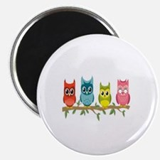 Cute The owl box Magnet