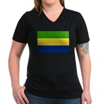 Gabon Women's V-Neck Dark T-Shirt
