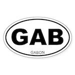 Gabon Oval Sticker