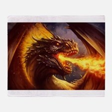 Fire dragon Throw Blanket