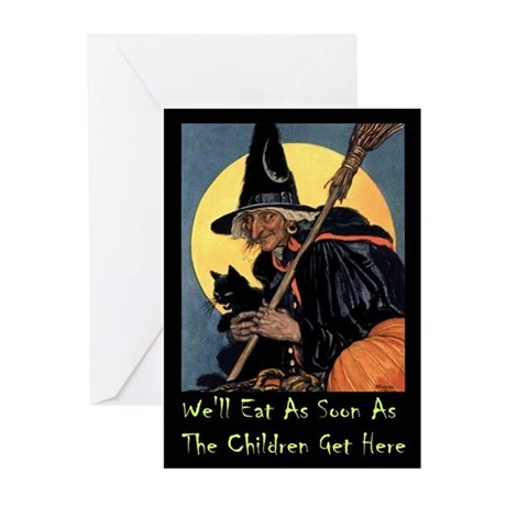 WITCH - WE'LL EAT Greeting Cards (Pk of 10)