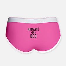 Namaste in Bed funny bed Women's Boy Brief