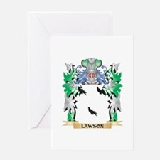 Lawson Coat of Arms - Family Crest Greeting Cards