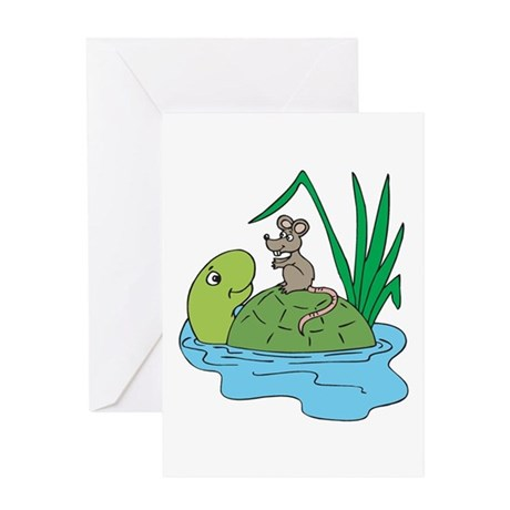 Cute Turtle & Mouse Greeting Card