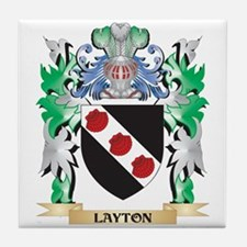 Layton Coat of Arms - Family Crest Tile Coaster