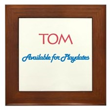 Tom - Available for Playdates Framed Tile