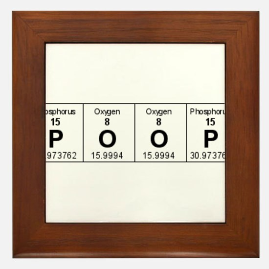 Cute Poop chart Framed Tile