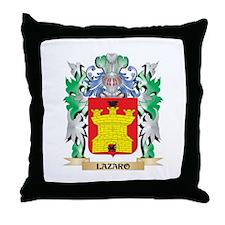 Lazaro Coat of Arms - Family Crest Throw Pillow