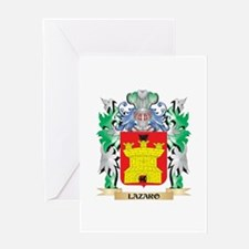 Lazaro Coat of Arms - Family Crest Greeting Cards