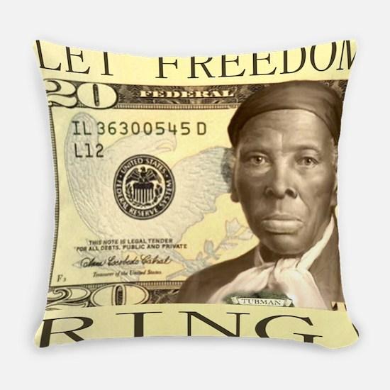 Harriet Tubman $20 Bill Everyday Pillow