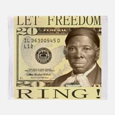 Harriet Tubman $20 Bill Throw Blanket