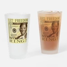 Harriet Tubman $20 Bill Drinking Glass