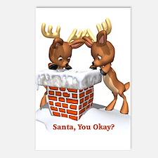 Funny Santa You Okay Postcards (Package of 8)