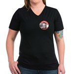 Goldwater-2 Women's V-Neck Dark T-Shirt