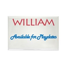 William - Available for Playd Rectangle Magnet (10