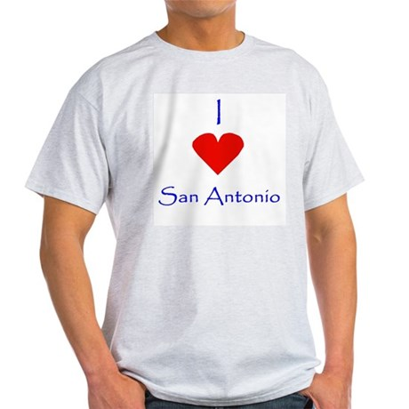 I love San Antonio Ash Grey T-Shirt