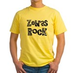 Zebras Rock Zebra Zoo Animal Yellow T-Shirt