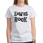 Zebras Rock Zebra Zoo Animal Women's T-Shirt